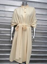 TEXAS BODY HANGINGS Ivory Bone Wool Belted Cape Wrap Cloak