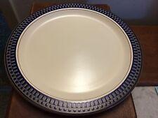 Mikasa Potters Touch CB009 AZTEC BLUE large round serving platter chop plate EUC
