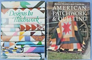 Lot of 2 Patchwork Quilting Books Hardcover