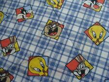 Vintage 1995 Bugs Bunny Twin Flat Sheet The Bibb Company Tasmanian Devil