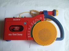 My First SONY CFM 2300 Kassettenrecorder DEFEKT Radio WORKS Vintage Retro Kids