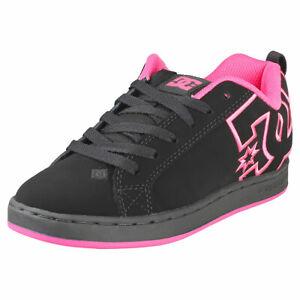 DC Shoes Court Graffik Womens Black Pink Skate Trainers - 6 UK