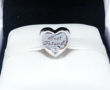 Authentic PANDORA 925 Ale Best Friend Friendship Heart Charm Pendant 791727CZ