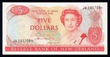 "New Zealand: 1981 $5 Hardie QEII ""JA"" STAR REPLACEMENT. P171ar UNC Cat $72+"