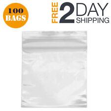 100 Small Ziplock Bags 2X2 Clear Plastic Zip Lock Jewelry Bag Baggie Transparent