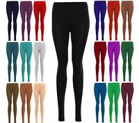 New Women Ladies Plain Leggings New Viscose Full Length Leggings Plus Size 8-26
