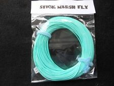 STICK MARSH FLY LINE WF-7-F  WITH EXPOSED LOOP ON LEADER END --SKY  BLUE