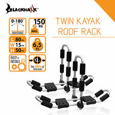 Blackhawk Double Twin 2 Kayak Canoe Folding Carrier Roof Rack Holder MAX 150KG