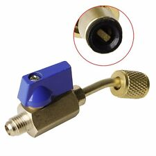 Shut Valve Refrigerant R410a R134a HVAC For A/C Charging Hoses Thread Tool Brass
