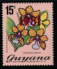 Guyana 1981 Sc # 351a Orchids Red Ovpt. Mnh (55516)
