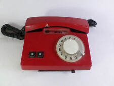 Vintage Soviet Ussr Rotary Dial Phone Telephone Vef Ta-D  Red Color