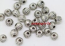 200pcs Tibet Silver Jewelry Findings Charm Spacer Beads 4mm(lead free)