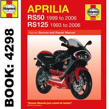 Aprilia rs50 1999-2006 Rs125 1993-2006 Haynes Manual de taller