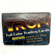 2 x TRON Full Color Collectible Trading Cards Wax Packs Opened, 1981