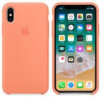 Peach GENUINE ORIGINAL Apple Silicone Case NEW iPhone X RRP $39