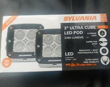 SYLVANIA  Ultra 3 Inch Cube LED Light Pod Spot Light 2360 Raw Lumens 2 led Pods
