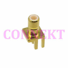 1pce SMB male plug solder cup PCB deck clip edge mount RF connector