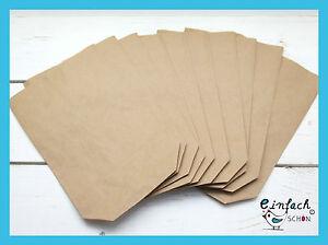 25 x Papiertüten Geschenktüten Bodenbeutel Kraftpapier braun 3 verschied. Größen