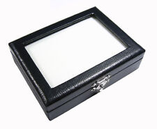FREE SHIP TOP GLASS GEM DIAMOND JEWELRY COIN  BOX CASE STORAGE  8x10 cm. No.#7