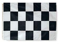 """12x18 Checkered Black White Garden Sleeved Flag 12""""x18"""" Checker Board USA SHIP"""