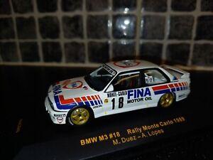BMW M3 Marc Duez Monte Carlo Rally 1989 1/43rd Ixo diecast Prodrive rare WRC