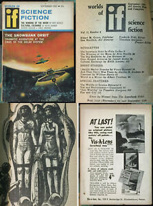 If Science Fiction Sept 1962 V12N4 Fritz Leiber Sturgeon Laumer sci-fi pulp!!!!!