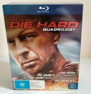 Die Hard Quadrilogy Blu Ray Box Set Bruce Willis VGC