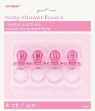 5cm Plastic Pink Dummy Baby Shower Favours Pack of 4