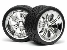 HPI Racing - Phaltline Tire, 140X70mm, on Tremor Wheels, Chrome, Savage X