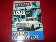 REVUE TOP  REALITES JEUNESSE  N° 255   OCTOBRE   1963   SALON DE L'AUTO