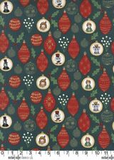 Christmas Ornaments Green Michael Miller Fabric FQ +More 100%Cotton