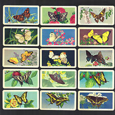 CIGARETTE/TRADE/CARDS.B/Bond (Canada).BUTTERFLIES OF N.AMERICA.(Full Set).(1965)