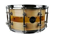 "Wood/Acrylic Hybrid Acoustic Snare Drum 14""x6.5"""