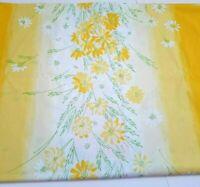 Vintage Vera Neumann Burlington Twin Flat Sheet Yellow and White Daisies Floral