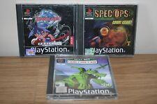 PLAYSTATION 1 PS1 Paquete De Juegos/JOBLOT-Ejército Hombres SPEC OPS Beyblade-Tierra Mar