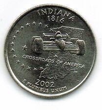 2002-P Brilliant Uncirculated Indana 19TH State Quarter Coin!
