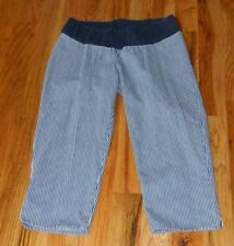 Regular Size S Capri, Cropped 100% Cotton Maternity Jeans
