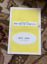 Q1-a Theatre Programme King John 1953 Richard Burton Old Vic Company