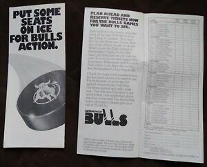 2 circa 1976 Birmingham Bulls Promotional Folders (to order tickets) WHA Hockey