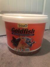 Tetra Goldfish Vit C Enriched Flakes 4.52 lb Balanced Diet Clear Health Bucket