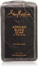 Shea moisture Organic African Black Soap Bar with Shea Butter, 8oz