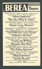 1943 BEREA THEATRE OH SHOWING ABOVE SUSPICION W/J CRAWFORD & F McMURRAY ETC
