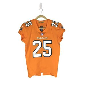 Rare 2016 Xavien Howard #25 Game Issued Miami Dolphins Color Rush Nike Jersey 44