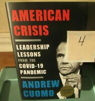 BRAND NEW SIGNED American Crisis NY Governor Andrew Cuomo First Edition HC Book