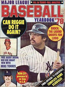 1978 Major League Baseball Yearbook magazine Reggie Jackson, New York Yankees VG