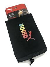 "Puma Yoga Mat Bag, Black Multi Color Rainbow Ombre 26"" x 6"" Draw String Sac New"