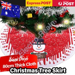 Christmas Tree Skirt Base Floor Mat Cover Xmas Party Home Decoration Plush 80cm