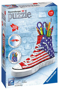 12549 Ravensburger American Flag Sneaker 3D Puzzle Pen Pot 108pc Age 8+