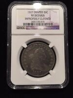 1807 Draped Bust Half Dollar NGC VF Very Fine Overton O Variety Silver