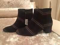 Next Ladies Checkered Ankle Boots - New - Size 5